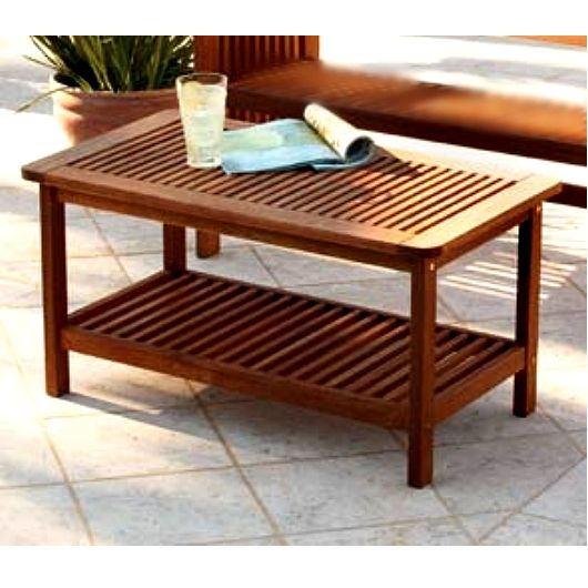Mission Teak Type Coffee Table   Clearance! View Images