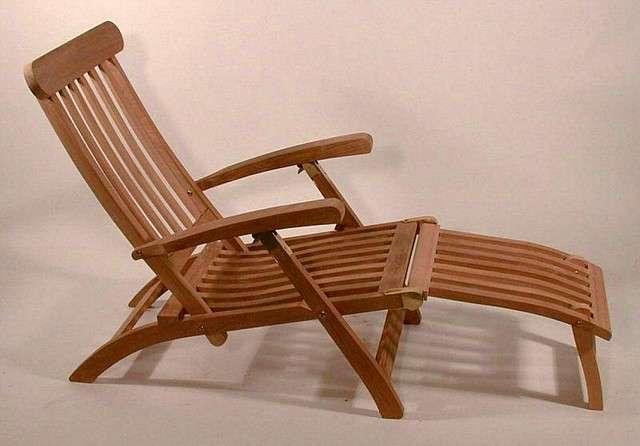 Tremendous Teak Steamer Deck Recliner Lounge Chair Theyellowbook Wood Chair Design Ideas Theyellowbookinfo