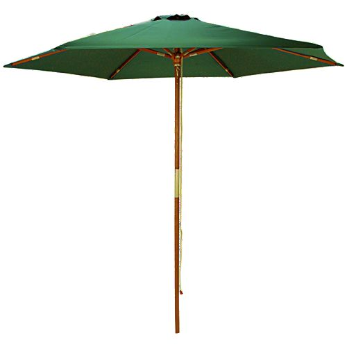 Wood 6 Foot Green Outdoor Market Umbrella