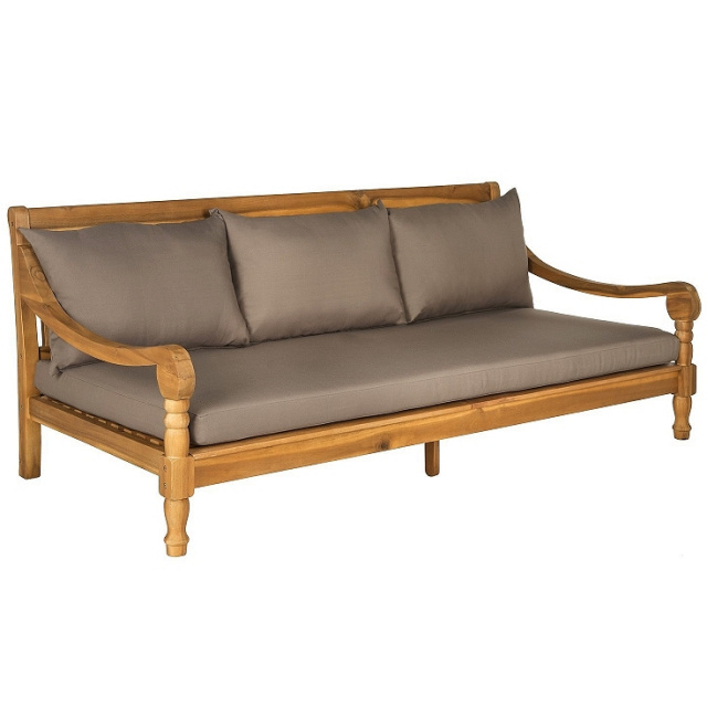 Acacia Deep Seating Patio Sofa Daybed with Cushions