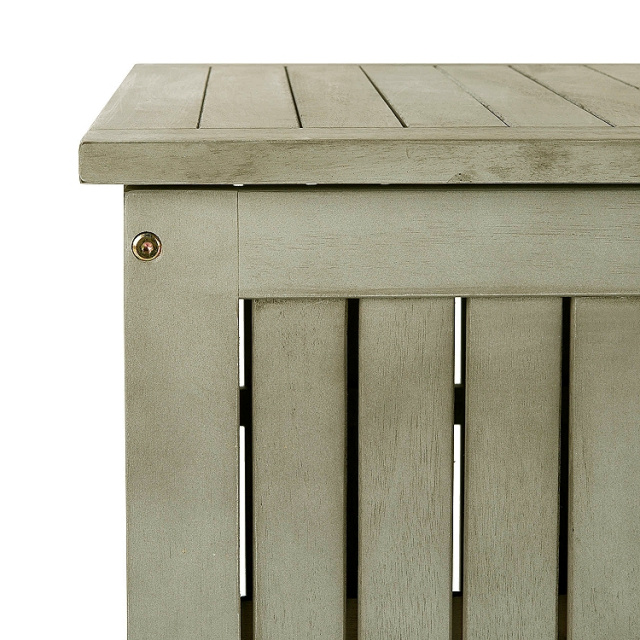 Acacia Gray Patio Storage Trunk Chest
