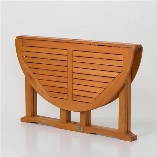 Eucalyptus 48 Inch Heavy Duty Folding Dining Table