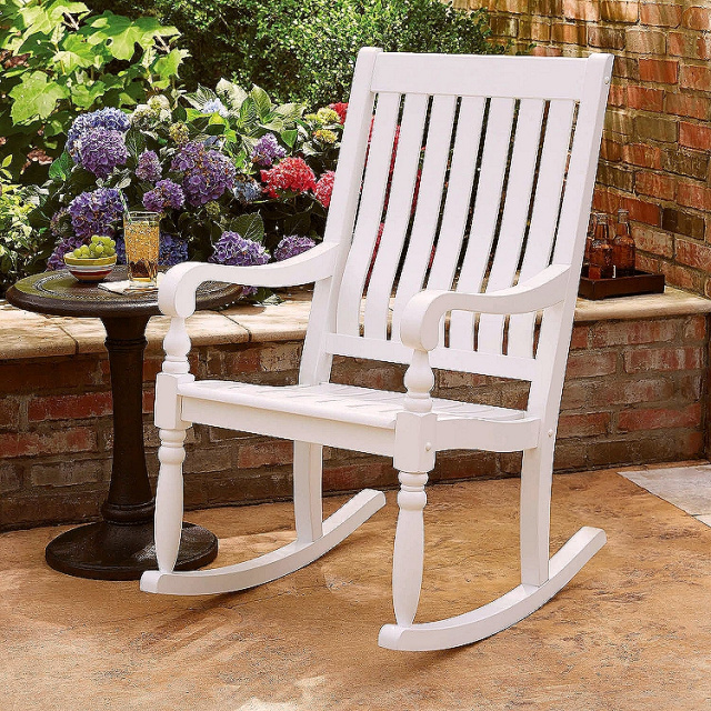 Eucalyptus Deluxe White Porch Rocking Chair. View Images & Eucalyptus Deluxe White Porch Rocking Chair