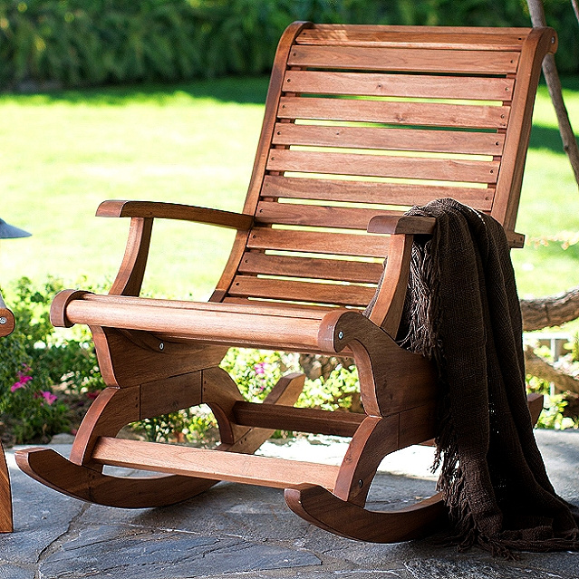 Acacia Plantation Outdoor Porch Rocking Chair