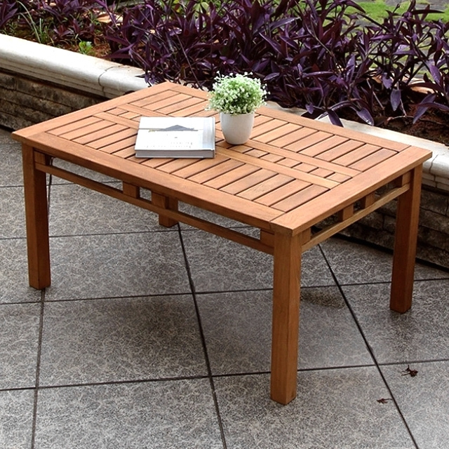 Teak 36 Inch Outdoor Patio Coffee Table
