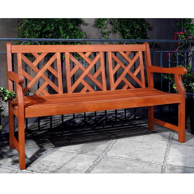 Teak Type 5u0027 Chippendale Garden Bench $279.00