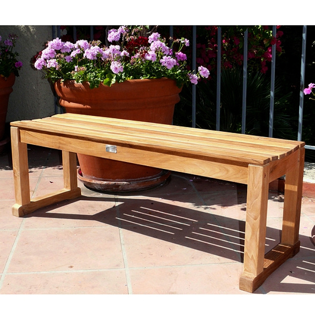 Teak 4 Foot Backless Picnic Bench