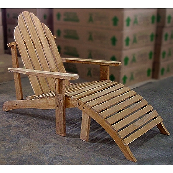 Teak Adirondack Deck Chair And Ottoman. View Images