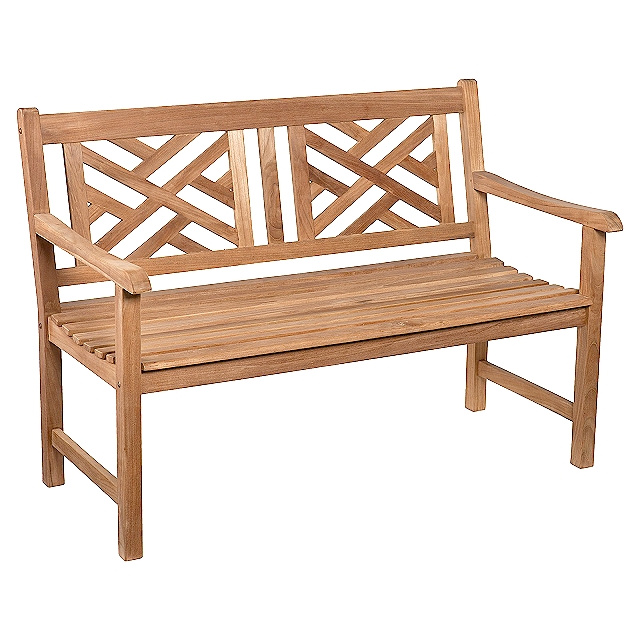 Teak Chippendale 4 Foot Patio Garden Bench
