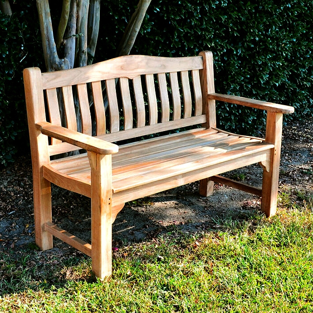 Teak Deluxe 4.5 Foot Outdoor Cottage Bench