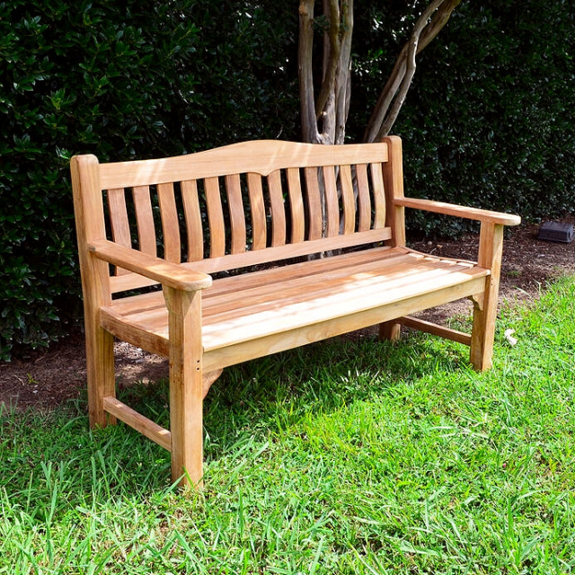 Teak Deluxe 5 Foot Outdoor Cottage Bench