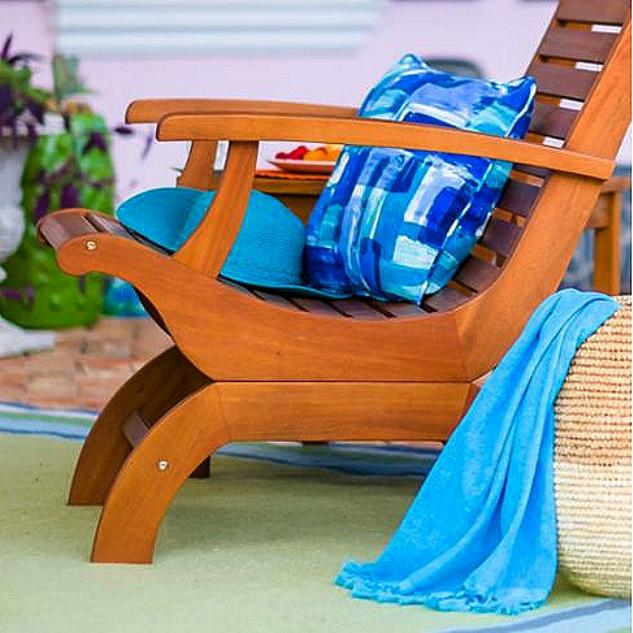 Teak Type Patio Outdoor Plantation Armchair