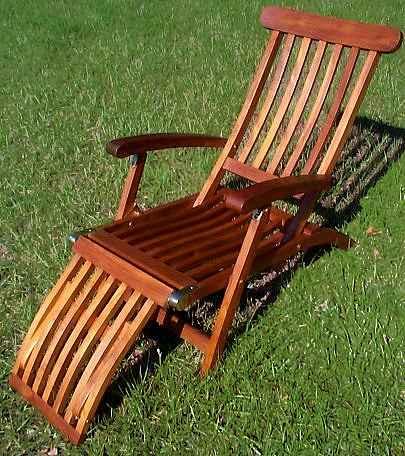 Steamer Deck Lounge Chair – Teak Steamer Chair Cushions