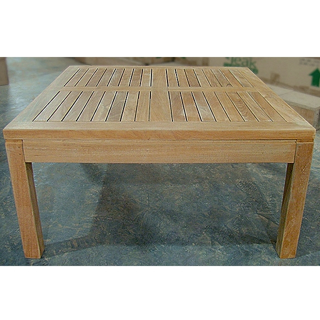 Teak Large Square Coffee Cocktail Table