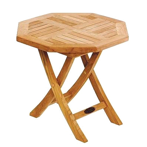 Teak Deck Octagonal Folding Side Table