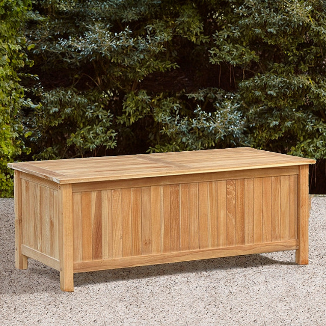 Teak Outdoor Storage Trunk Box. View Images