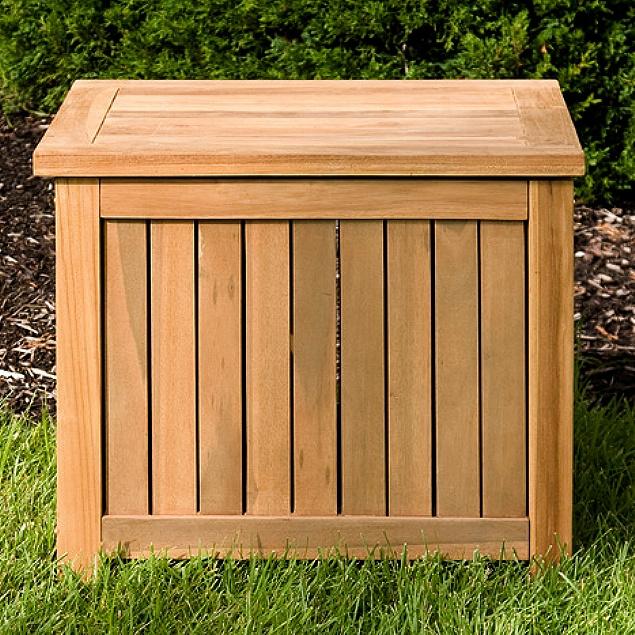 Charmant Teak Patio Deck Storage Trunk Box