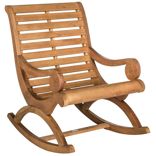 teak type plantation patio rocking chair view images