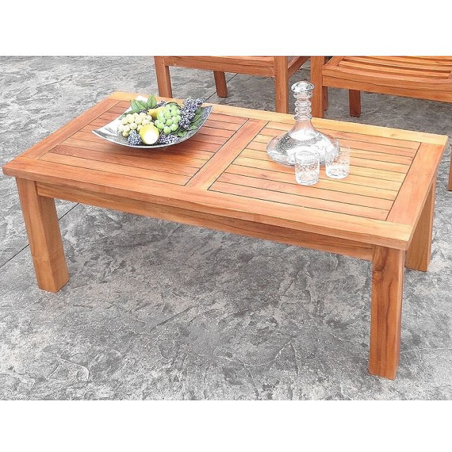 Teak Rectangular Patio Garden Coffee Table