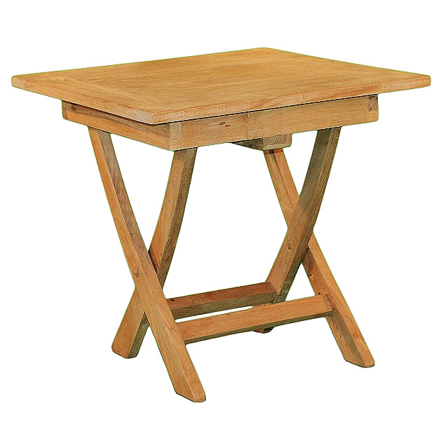 Teak Square Folding Porch Side Table