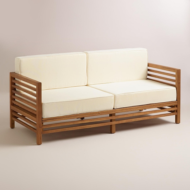 Acacia Hardwood 5 5 Foot Deep Seating Sofa