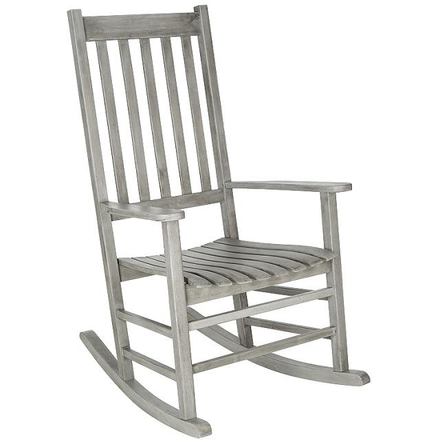 Teak Type Acacia Gray Porch Rocking Chair