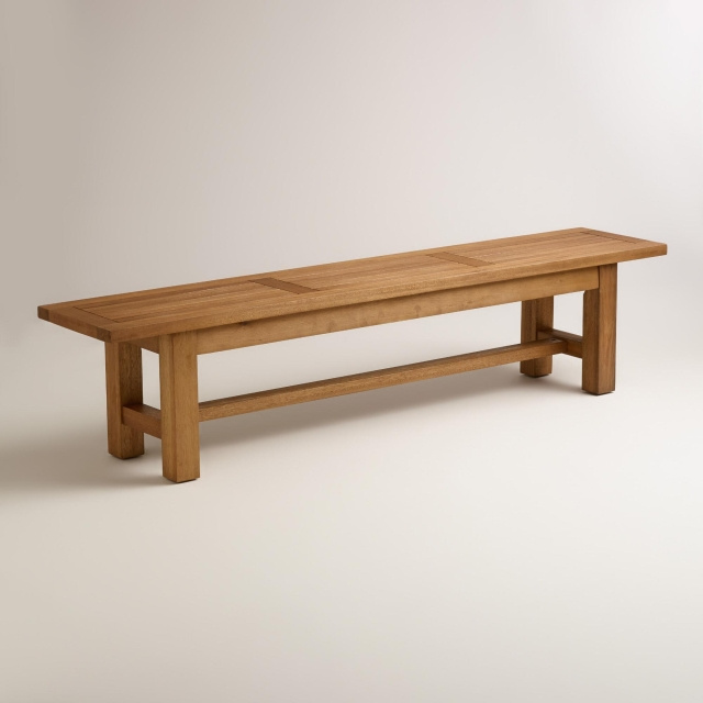 Eucalyptus 6.5 Foot Outdoor Dining Backless Bench