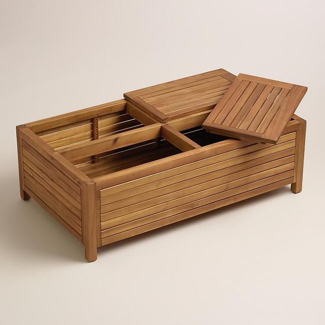 Teak Storage Coffee Table