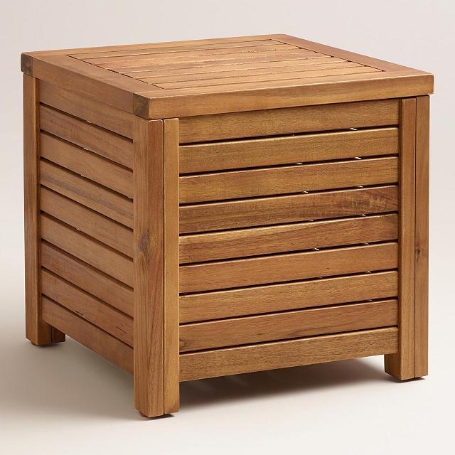 Acacia contemporary storage side end table - Contemporary side tables with storage ...