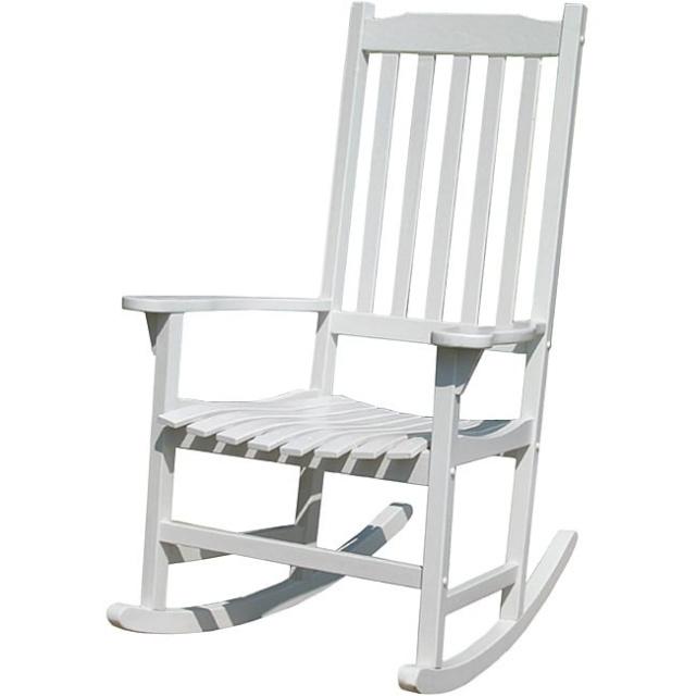 acacia teak type white porch rocking chair