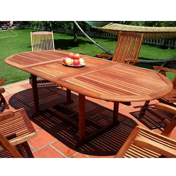 - Eucalyptus 90 Inch Butterfly Leaf Patio Dining Table