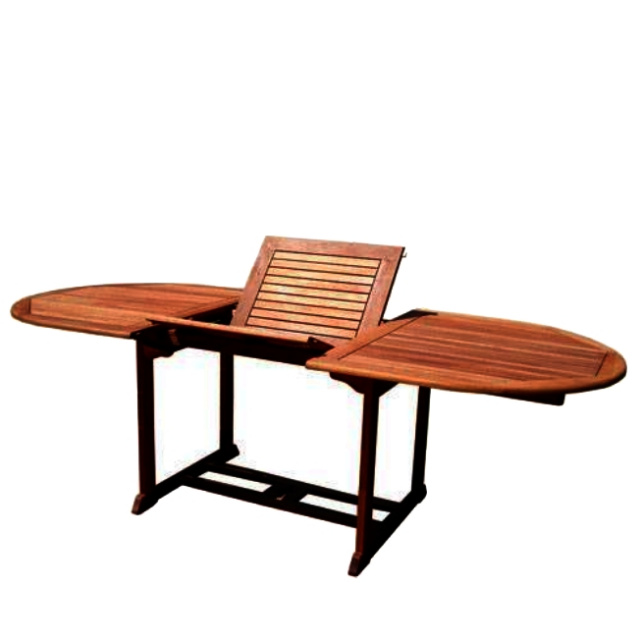 teak eucalyptus patio deck outdoor dining table round wooden and chairs wood seats 8