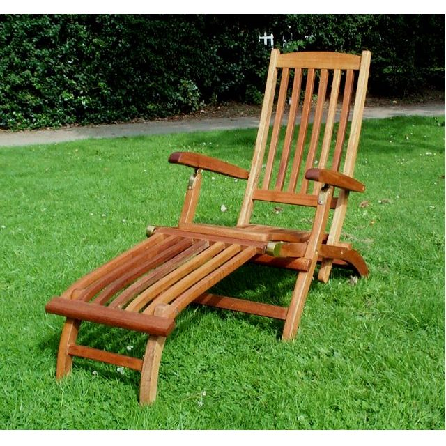 Teak Patio Furniture Chaise And Steamer Loungers