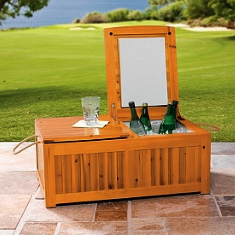 Wooden Outdoor Cooler Doors