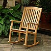 Teak Heavy Duty Patio Outdoor Rocking Chair