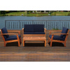4pc Teak Type Deep Seating Conversation Set - Colors
