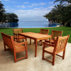 6pc Teak Type Eucalyptus Dining Set
