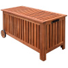 Acacia Hardwood Patio Storage Chest Trunk
