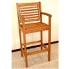 Eucalyptus Outdoor Patio Barstool Armchair