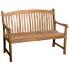 Teak 4 Foot Arched Back Garden Bench