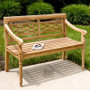 Teak 4 Foot Cross Back Garden Bench