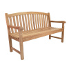 Teak 5 Foot Arched Back Garden Bench