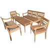 Teak 5pc Patio Garden Conversation Set