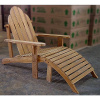 Teak Adirondack Deck Chair and Ottoman