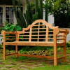 Teak 5' Lutyen Patio Garden Bench
