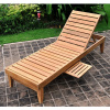 Teak Outdoor Patio Chaise Lounger