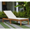 Teak Outdoor Three Position Patio Chaise Lounger