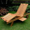 Teak Patio Deck Chaise Lounge