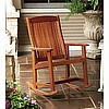 Teak Finish Rocker Rocking Chair