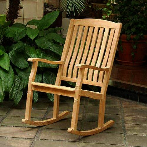 Heavy Duty Teak Patio Outdoor Rocking Chair